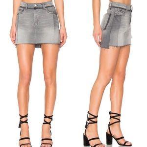 FRAME DENIM Nouveau Le Mix Mini Skirt  in Ash Mix